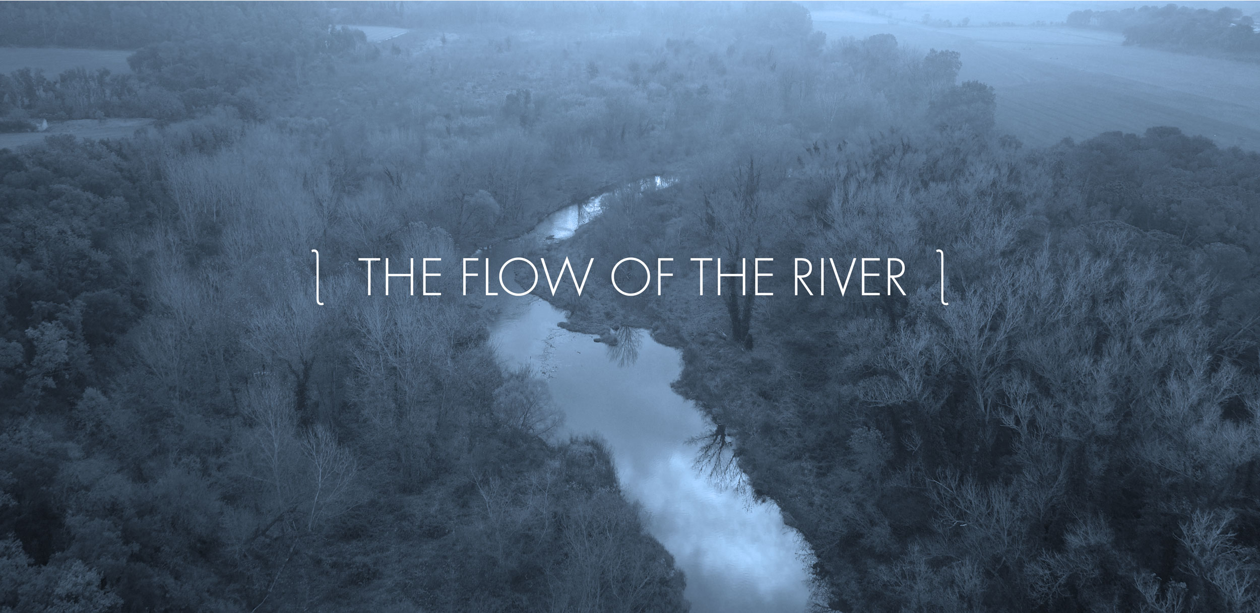 The flow of the river